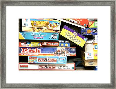 Indoor Games Framed Print by Johnny Greig