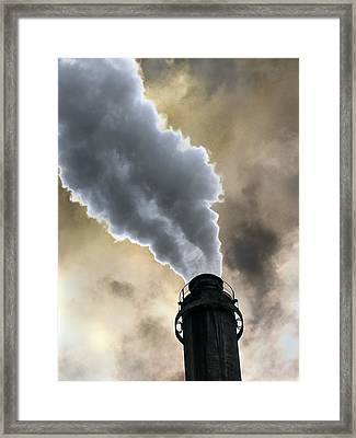 Industrial Air Pollution Framed Print by Cordelia Molloy