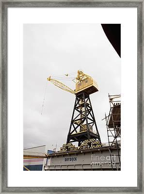 Industrial Crane Framed Print by Shannon Fagan