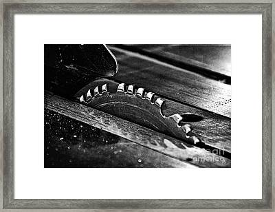 Industrial Saw  Framed Print by Scott Pellegrin