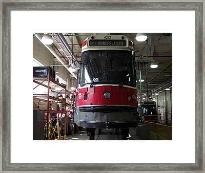 Inside A Streetcar House Framed Print by Jenny Katsaris