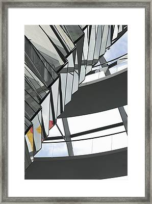 Inside Of The Glass Dome Of Reichstag  Framed Print by Igor Sinitsyn