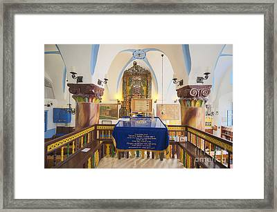 Interior Of Synagogue Sanctuary Framed Print by Noam Armonn
