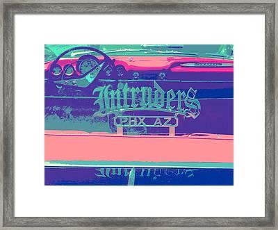 Intruders Car Club Framed Print by Chuck Re
