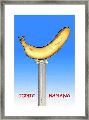 Framed Print featuring the mixed media Ionic Banana by Bill Thomson