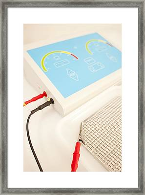Iontophoresis Equipment Framed Print