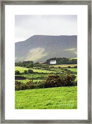 Irish Farm - Dingle Peninsula  Framed Print by Gordon Wood