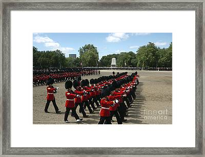 Irish Guards March Pass During The Last Framed Print by Andrew Chittock