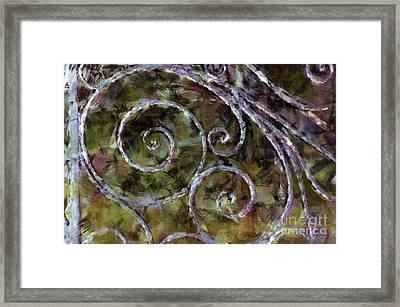 Iron Gate Framed Print by Donna Bentley