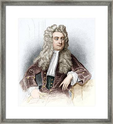 Isaac Newton, English Physicist Framed Print by Sheila Terry