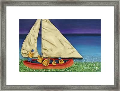 Island Colours Framed Print