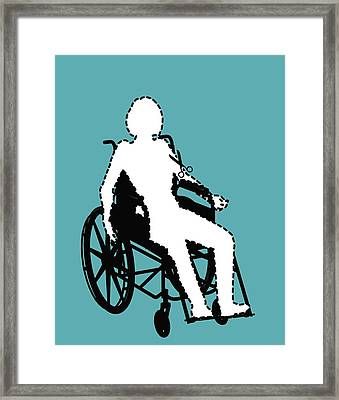 Isolation Through Disability, Artwork Framed Print by Stephen Wood