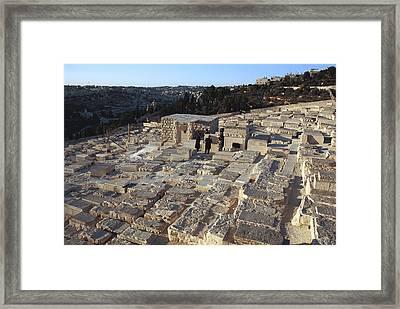 Israel, Jerusalem Mount Of Olives Framed Print by Keenpress