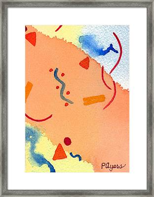 Framed Print featuring the painting It's Orange by Paula Ayers