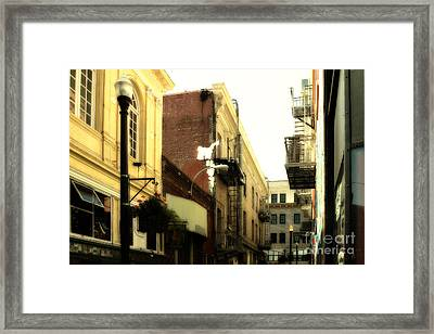 Jack Kerouac Street San Francisco . 7d7437 Framed Print by Wingsdomain Art and Photography
