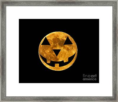 Jack-o-lantern Moon Framed Print by Al Powell Photography USA