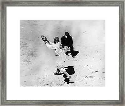 Jackie Robinson (1919-1972) Framed Print