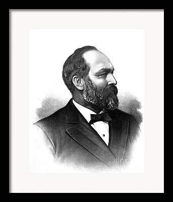 James Abeam Garfield Framed Prints