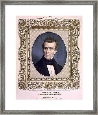 James Polk 1795-1849 President Framed Print by Everett