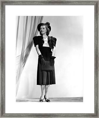 Janet Gaynor, 1938 Framed Print by Everett