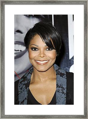 Janet Jackson At In-store Appearance Framed Print by Everett