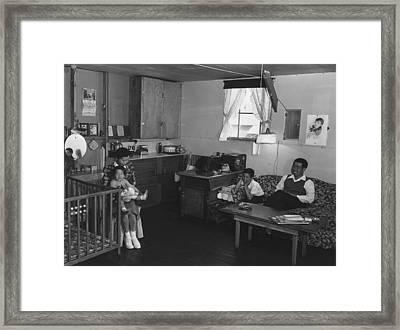 Japanese American Family Interned Framed Print by Everett