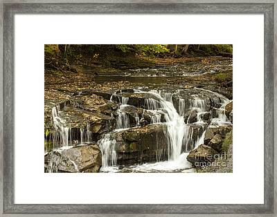 Java Falls In Autumn Framed Print by Darleen Stry