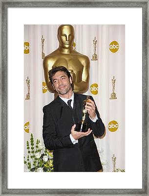 Javier Bardem Winner, Best Supporting Framed Print