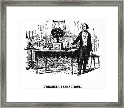 Jean Eugene Robert Houdin Framed Print by Granger