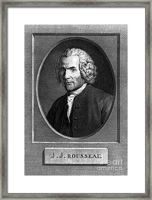 Jean-jacques Rousseau, Swiss Philosopher Framed Print by Photo Researchers