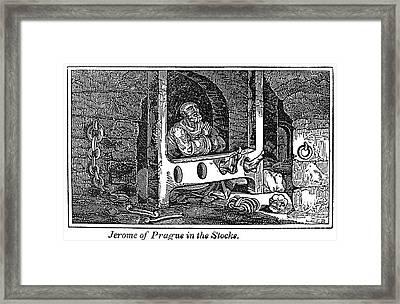 Jerome Of Prague Framed Print by Granger