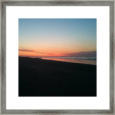 Jersey Shore Sunrise Framed Print