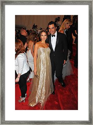 Jessica Alba Wearing Ralph Lauren Framed Print by Everett