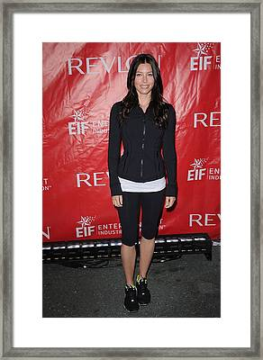 Jessica Biel At A Public Appearance Framed Print