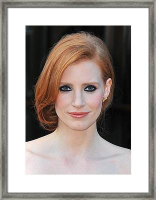 Jessica Chastain At Arrivals For The Framed Print