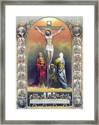 Jesus Christ, The Crucifixion Framed Print