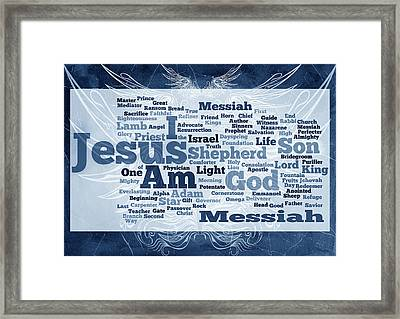 Jesus Messiah 2 Framed Print by Angelina Vick