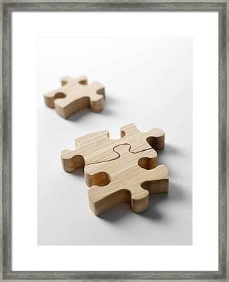 Jigsaw Pieces Framed Print by Tek Image