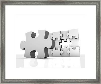 Jigsaw Puzzle, Artwork Framed Print by Pasieka