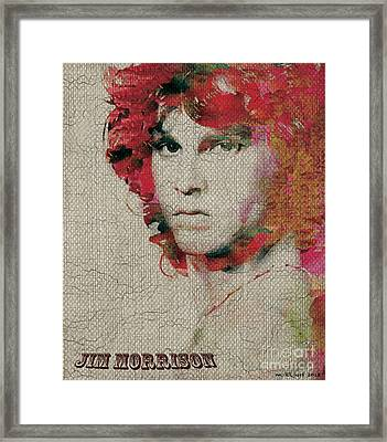 Jim Morrison Framed Print by Max Cooper