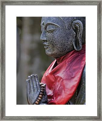 Jizo Framed Print by Karen Walzer