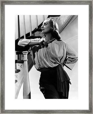 Joan Crawford, Ca. 1940s Framed Print by Everett
