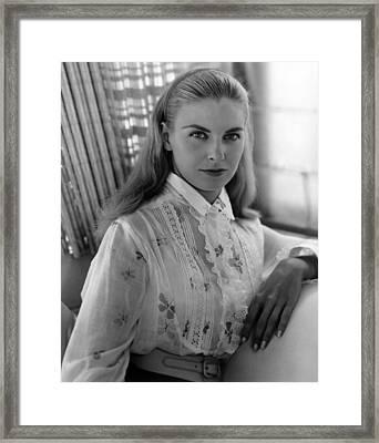 Joanne Woodward, Ca. 1950s Framed Print