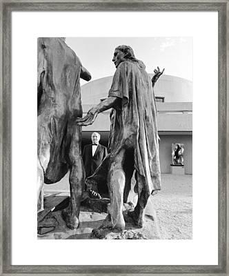 Joe Hirschhorn At The Hirschhorn Framed Print by Jan W Faul