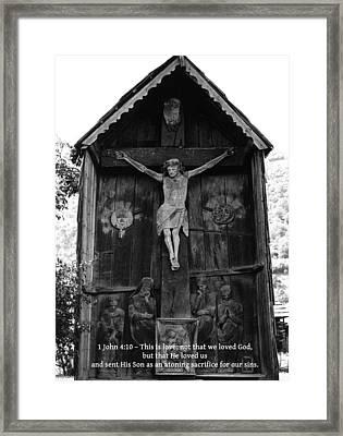 1 John 4 10 Framed Print