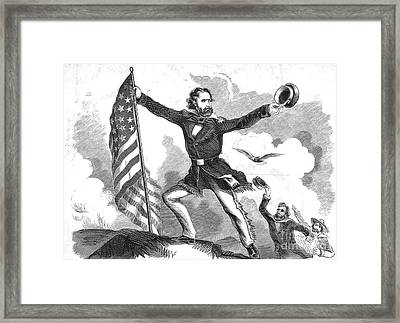 John Charles Fr�mont, American Military Framed Print by Photo Researchers