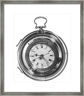 John Harrisons Last Marine Timepiece Framed Print by Science Source