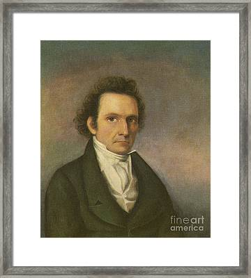 John James Audubon, French-american Framed Print by Photo Researchers
