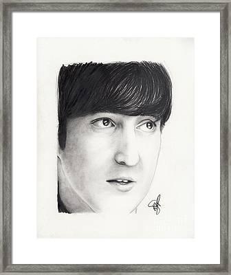 John Lennon Framed Print by Rosalinda Markle