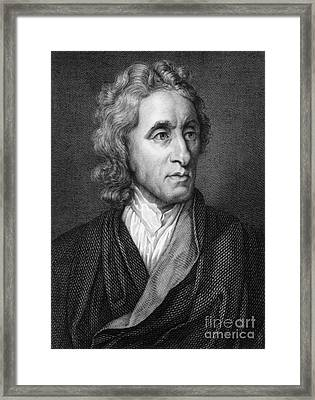 John Locke, English Philosopher, Father Framed Print